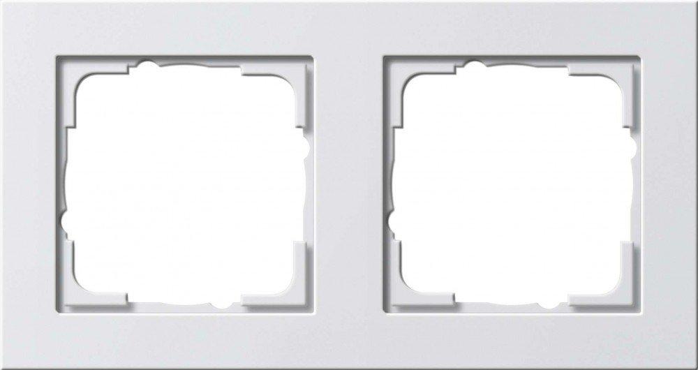 GIRA E2 - interruptores y marcos para enchufes (Color blanco, Termoplá stico, Screwless) Termoplástico 021222