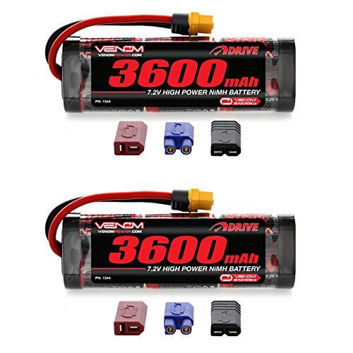 (Venom 7.2V 3600mAh 6-Cell NiMH Battery with Universal Plug (EC3/Deans/Traxxas/Tamiya) x2 Packs)