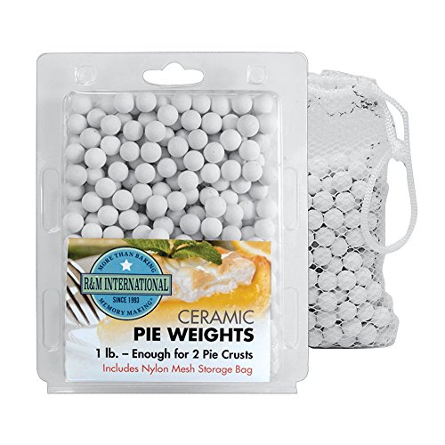R&M International 2723 Ceramic Pie Weights, 1 lb. with Mesh Storage Bag