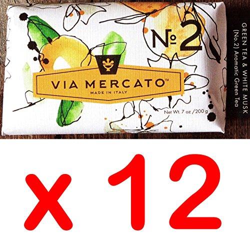 Via Mercato Italian Soap Bar , No. 2 - Green Tea & White Mus