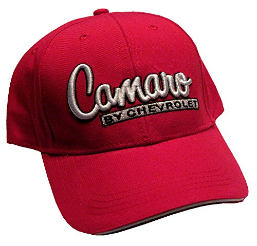 Camaro by Chevrolet Hat Cap in Red Includes Racing Decal
