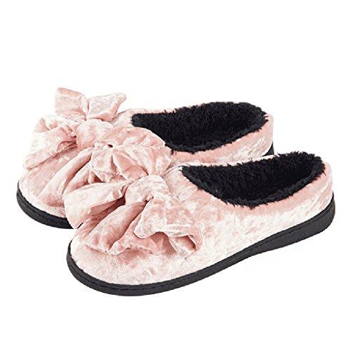 Zapatillas DWW casa de invierno interior simple cálidos antideslizantes zapatos de algodón a prueba de agua femenino Pattern 2