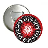Celebrate Mexican Silhouette Mexico Totems Round Bottle Opener Refrigerator Magnet Pins Badge Button Gift 3pcs