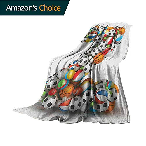 Letter Z pet Blanket,Colorful Different Balls Forming a Letter Z Fun Games for Children Activity Hobby Sofa Super Soft,Plush,Fuzzy Microfiber Throw Reversible,Comfy,35