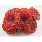 Aquarium Fish Tank Silicone Sea Anemone Artificial Coral Ornament SH217 red