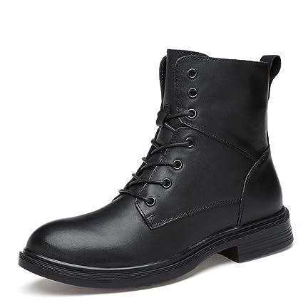 HILOTU Hombre Botas de Nieve Senderismo Impermeables Deportes Trekking Zapatos Forro Piel Botines (Color :