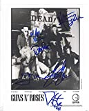 Guns N' Roses full rock band reprint signed promo