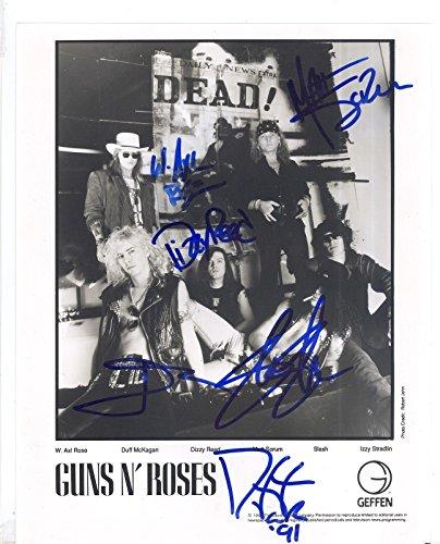 Guns N' Roses full rock band reprint signed promo photo #2 RP Axl Rose Slash -