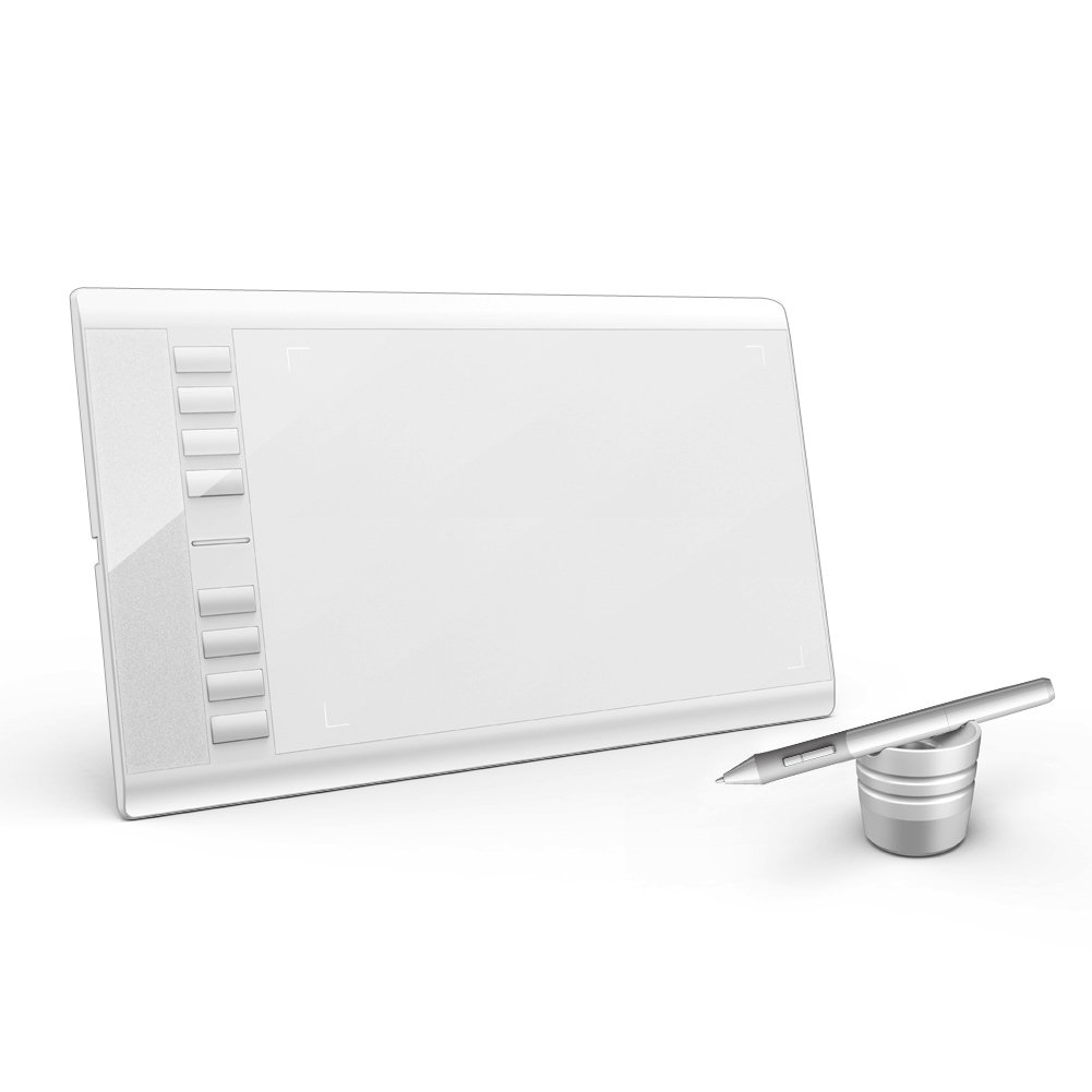 Ugee M708 Graphic Drawing Tablet with 2048 Level 5080LPI (White Color)