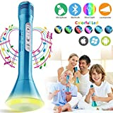 Wireless Kids Karaoke Microphone with Speaker, Portable Bluetooth Microphone Echo Child Karaoke Mic Machine for Kids Boys Girls Adult Singing Party Music Playing Support Android (Blue)