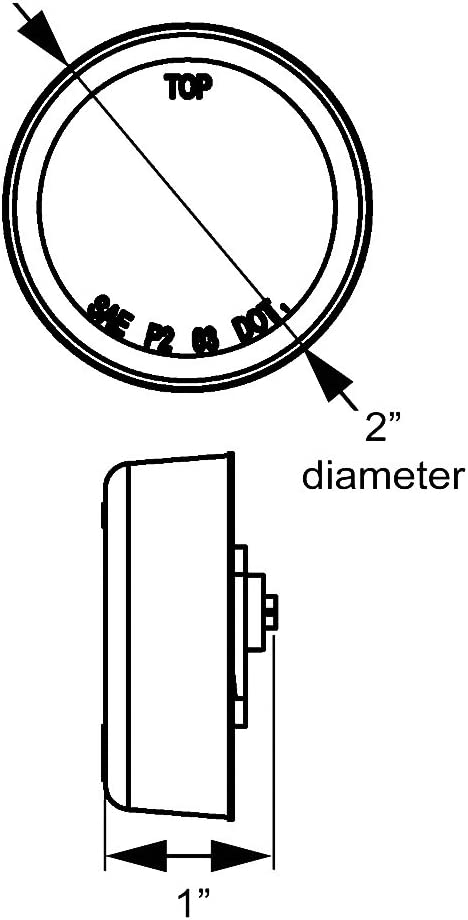 Optronics MCL56AK Marker//Clearance Light Amber
