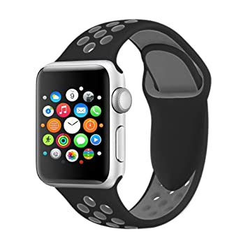 VODKER para Apple Watch Correa, Silicona Suave Reemplazo Sport Banda para 38mm 42mm iWatch Serie