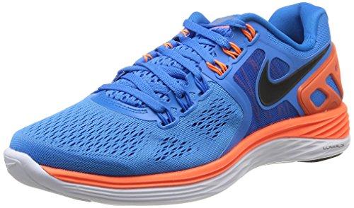 NIKE LunarEclipse+ 4 Men's Running Shoes, Blue/Orange, US13