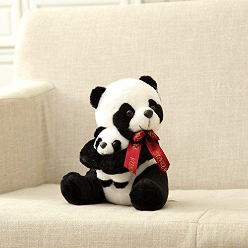 Vercart Cuddly Cute Soft Stuffed Plush Animals Dolls White Black Gaint Stuffed Plush Panda Gift Panda Bear for Kids Toy 10 Inches (4' Bear Plush Keychain)