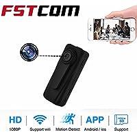 FSTCOM HD 1080P Hidden Spy Camera Mini Wifi Wireless Remote Control Secret Security Cam (Support APP and Max 128G SD card)