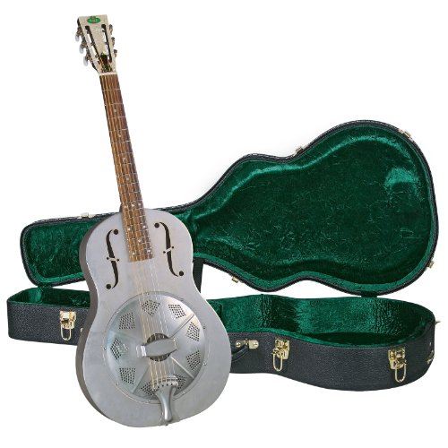 - Regal RC-43 Metal Body Triolian Guitar - Antiqued Nickel-Plated Steel - with Deluxe Hardshell Case