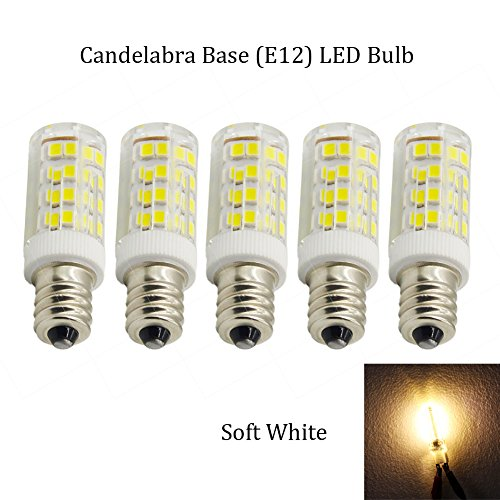 (Pack of 5) 25 watt Intermediate Base Light Bulbs Dimmable LED Appliance Bulb Warm White Replaces 25w S11/T7/T8 Bulb for Microwave Oven,Refrigerator Freezer and Ceiling fan. (Appliance Bulb Led T8 compare prices)