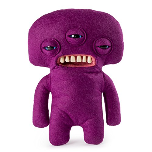 "Fugglers – Funny Ugly Monster, 9"" Annoyed Alien (Purple) Plush Creature with Teeth, for Ages 4 and Up"