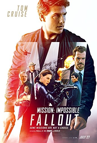 Mission: Impossible - Fallout Movie POSTER 27 x 40 Tom Cruise, Rebecca Ferguson, B, MADE IN THE ()