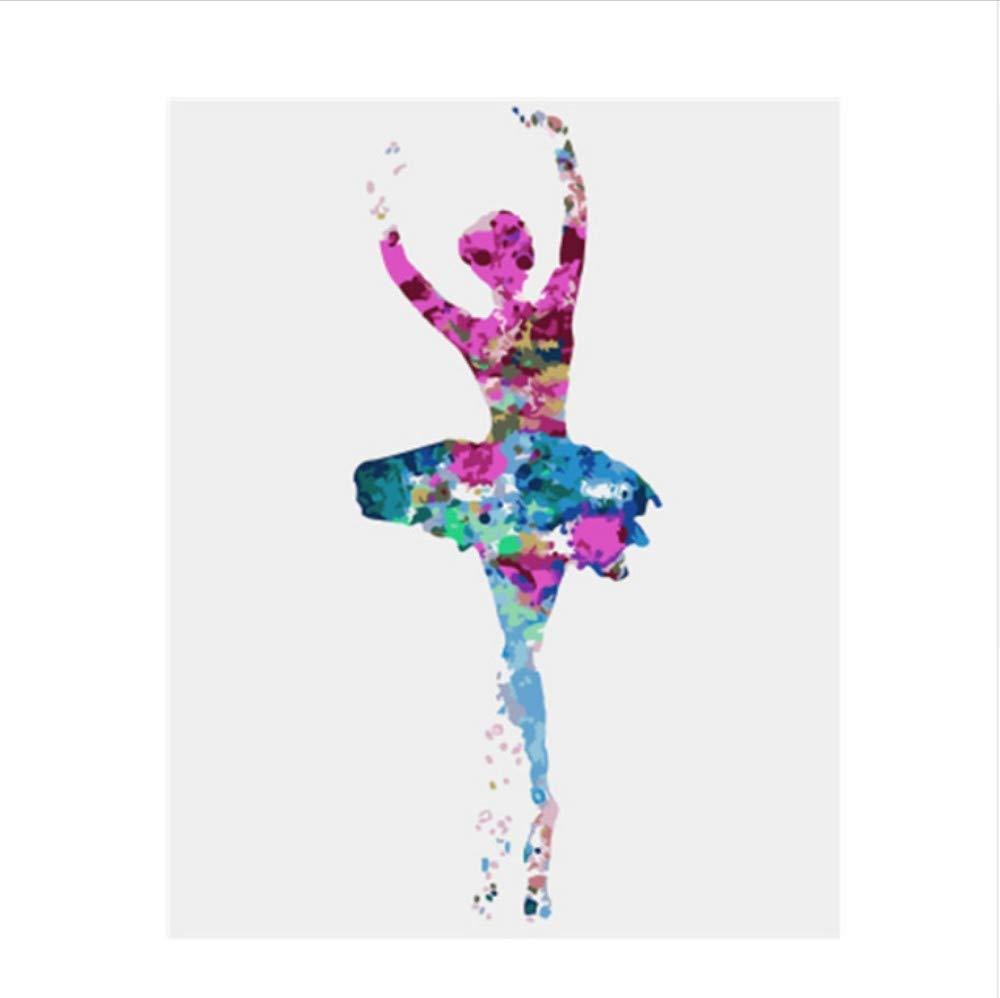 CZYYOU Bild Ballett Mädchen DIY Malen Nach Zahlen Bunte Bild Bild Bild Home Decor Für Wohnzimmer Hand Einzigartige Geschenke 40x50cm-Rahmenlos B07P9QT649 | Moderne Technologie  3d8001
