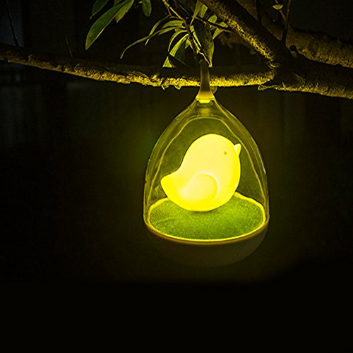 coffled Cute Creative Birdcage Lamp Energy Saving LED Rechargeable Night Light for Baby Neusery Decor Bedroom Dimmer Gifts