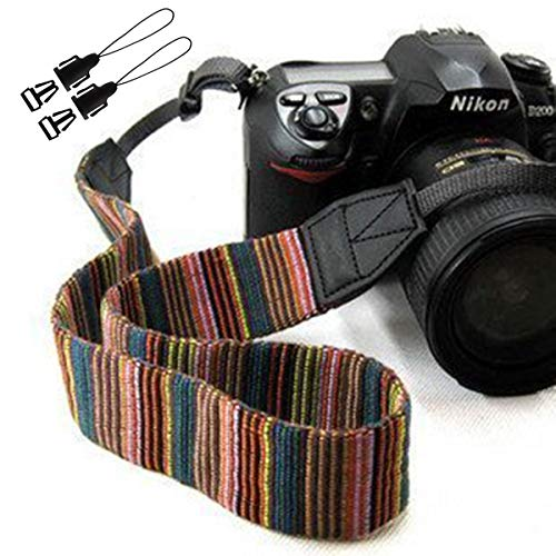 Camera Strap Eorefo Vintage Bohemia Camera Shoulder Neck Belt Strap for All DSLR Camera,Multi.
