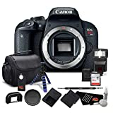 Canon EOS Rebel T7i Digital SLR Camera (Body Only) 1894C001 - Bundle with 64GB Memory Card, Extra Battery, Tripod + More