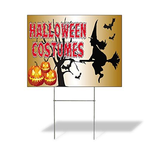 Plastic Weatherproof Yard Sign Halloween Costumes #1 Halloween