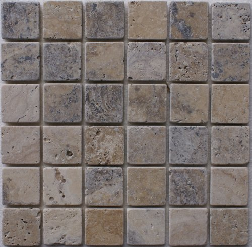 Epoch Tile PH2X2 2x2 Philadelphia Tumbled Travertine