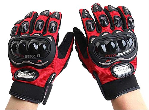 niceEshop Bicycle/Motorcycle Riding Protective Gloves Red L