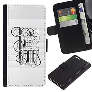 KingStore / Leather Etui en cuir / Apple Iphone 6 PLUS 5.5 / Profundo Tipografía Mensaje