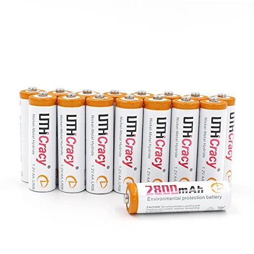UTHCracy 16 Pack High-Capacity 2800mAh AA Rechargeable Batteries