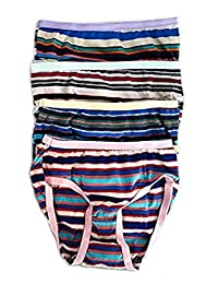 12/24/36/60 Pack: Babybug Girls Briefs Panties - 100% Cotton - Striped