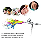 KKmoon KKmoon Multi-purpose Dual Action Airbrush Mini Air Compressor Set Gravity Feed Air Brush Kit for Art Painting Tattoo Manicure Craft Cake Spray Model Air Brush Nail Tool Set 100-250V