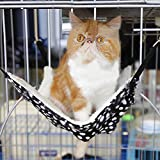 ttnight Cat Hanging Hammock Bed Pad Plush Kitten Cage Comfortable Dogs Hanging Beds for Small Pets Review