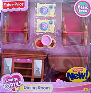 Loving Family Dining Room Basic Decor Playset For Grand Dollhouse 2008 Toys Games