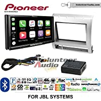 Volunteer Audio Pioneer AVH-W4400NEX Double Din Radio Install Kit with Wireless Apple CarPlay, Android Auto, Bluetooth Fits 2005-2011 Toyota Tacoma with Amplified System (Silver)