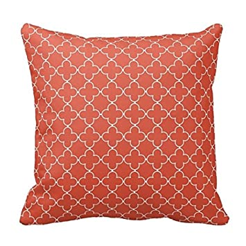 Amazon Terracotta Red And White Decorative Cushion Covers Throw Enchanting Red And White Decorative Pillows