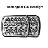 7x 6 Led Headlights 5x 7 45w Rectangle Led Headlights Car Headlamp Sealed Replacement high low beam for Truck off-road vehicle H6014 H6052 H6054 H5054 H6054LL 69822 6052 6053 pack of 2