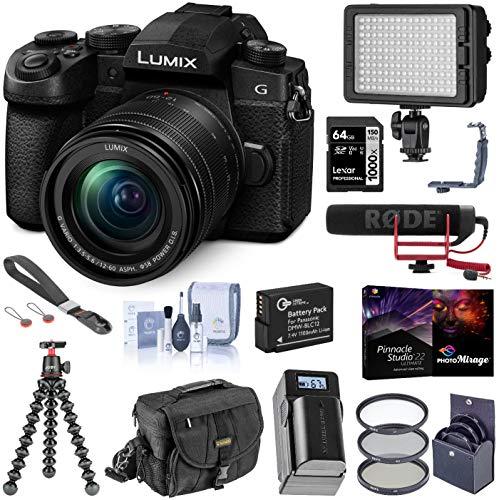 Panasonic LUMIX G95 20.3 Megapixel Mirrorless Digital Camera, 12-60mm F3.5-5.6 Lens, Bundle with RODE VideoMic GO, LED Light, Joby GorillaPod 3K, Filters, Peak Design Wrist Strap, 64GB SD Card + More