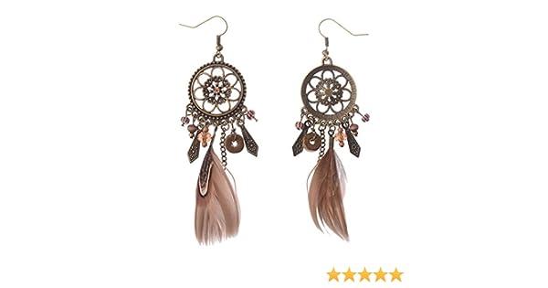 38ce51423758 fablcrew Retro Plumas Atrapasueños pendientes oreja studs joyas accesorios  para niñas Lady  Amazon.es  Hogar