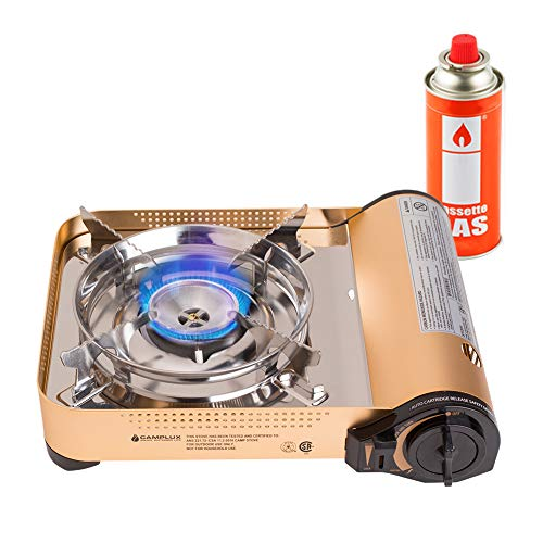7700 Kitchen - Camplux JK-7700 Portable Gas Stove, 11,500 BTU Aluminum Alloy Butane Stove, Single Burner Outdoor Camping Stove with Carrying Case, CSA Listed