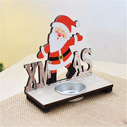 (Christmas Candle Holder Rings Candlestick Tea Light Holder (A))