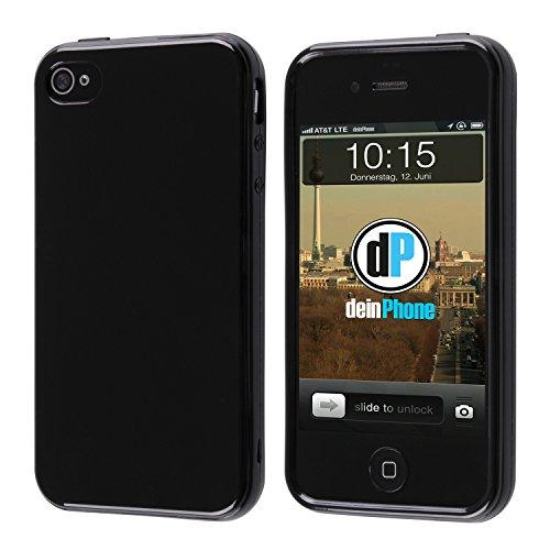 deinPhone iPhone 4 4S Silikon Case Hülle Schwarz
