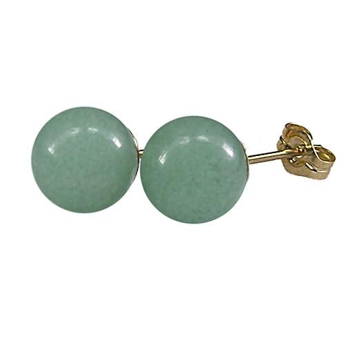 3192681d1 Amazon.com: 8mm Genuine Green Aventurine Gemstone Bead / Ball ...