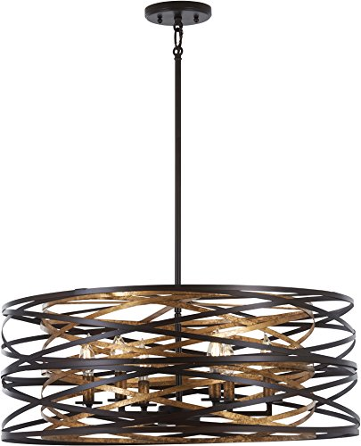 Minka Lavery Pendant Ceiling Lighting 4673-111 Vortic Flow, 6-Light 360 Watts, Dark Bronze