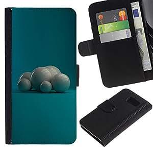 UNIQCASE - Samsung Galaxy S6 SM-G920 - White Pearls - Cuero PU Delgado caso cubierta Shell Armor Funda Case Cover