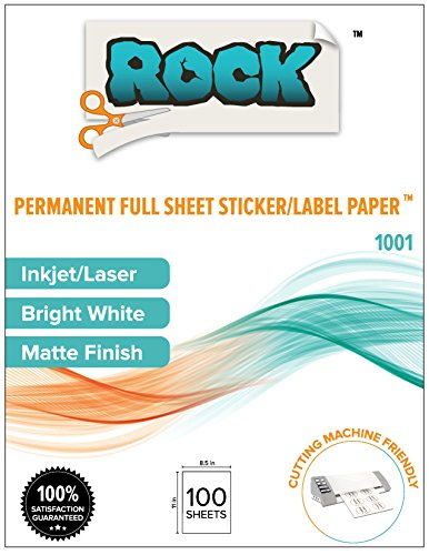 Paper Printable Program (Rock Paper Scissors Printable Sticker Paper, 8.5 x 11-Inch, 100 Count)