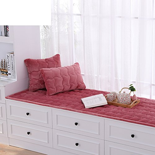 AMYDREAMSTORE Bay Window Cushion,Thick Plush Floating Window pad Window sill mat Pastoral Anti-Slip Tatami Cushion Cover Seats Blanket Balcony-G 60x150cm(24x59inch) (Window Seat Sill)