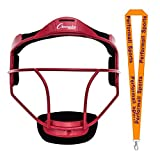 Champion Sports Softball Fielder's Face Mask Youth Size Red Bundle